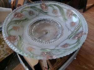 Vintage heavy glass shade