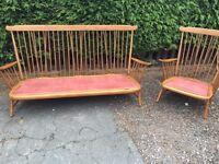 Original 1970s Retro Ercol Sofa & Chair - Can Deliver
