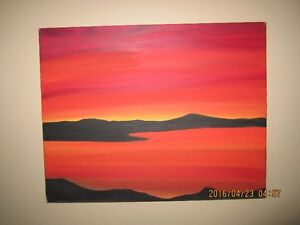 Oil on canvas ...Sunset 8:20 pm