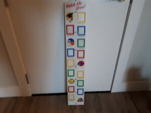 Watch Me Grow Measuring Chart with Picture Frames