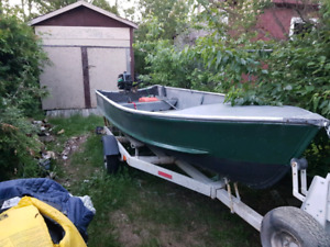 14ft boat with 3 outboards