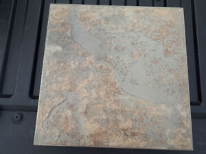ceramic tile (beige with green)