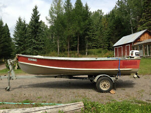 14' Naden with 20hp and trailer