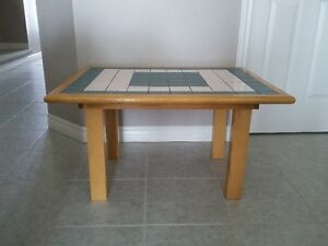 HANDMADE SOLID WOOD CERAMIC TILE TOP COFFEE TABLE London Ontario image 3