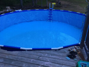 Intex 24 ft x 52 in Metal Frame Pool has a 6 inch tear in liner.