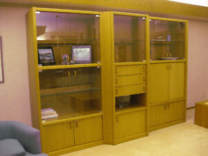THREE PCE. TEAK WALL UNIT - LOW PRICE