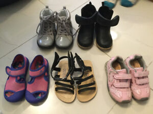 Toddler girls shoes - various