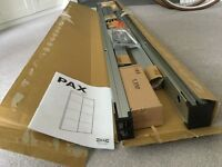 IKEA pax pair of sliding door frame w rail, aluminium