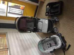 Safety First Combo: Car seat, two bases and stroller