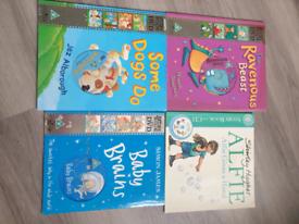 X4 Children's Books with DVD's/CD