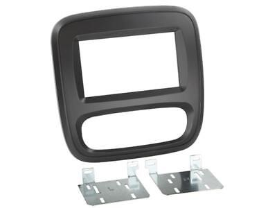 For Fiat Talento 1 Car Radio Panel Mounting Frame Black Double Din 2-DIN