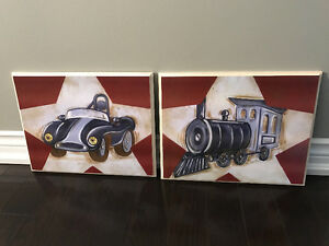 Car and Train Decorative Wall Art