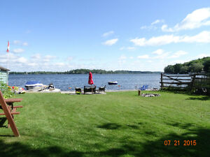 Waterfront Cottage on Rice Lake, 3 bed, Water & Land Trampoline
