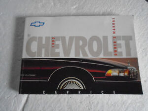 1992 Chevrolet Caprice Owners Manual