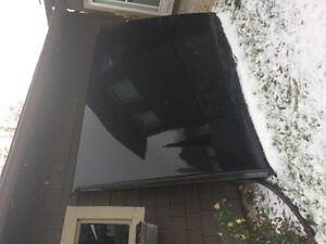 black hard top tonneau cover 8 ft