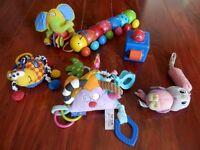 plusieurs jouets pour bébé a 1$ 2$ 3$ 4$ 5$ +tous en bon etat