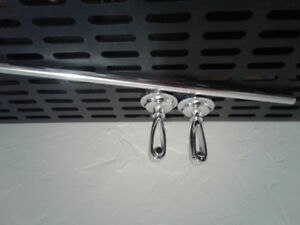 Silver towel bar