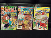 Vintage - (3) Comic Books - ARCHIE SERIES