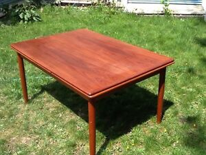 Teak table and coffee table