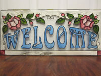 Beautiful faux Stained Glass Welcome