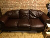 real leather couch moving sale