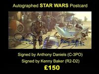 AUTOGRAPHED Widevision STAR WARS Postcard