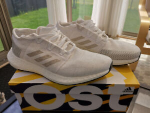 Adidas Pureboost GO Shoes, White on White, Size 10, Brand New