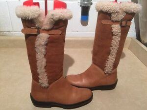 Women's Ralph Lauren Leather Winter Boots Size 6.5