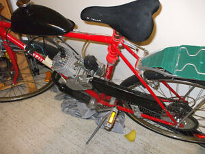 """49cc bike ready to go and """"Giant"""" frame ready to support motor"""