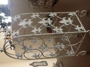 Wine Rack - Antiqued White
