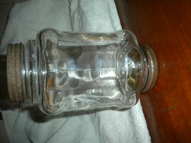 SUPER RARE 2-ENDED ANTIQUE MASON JAR CLEAR GLASS FLYCATCHERS