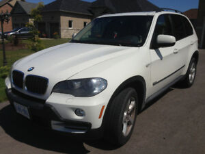 BMW X5, 2008, 7 Seats, DVD player, White, Accident free