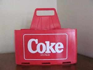 2x Caisse en plastique pour 6 x 750ml Coke plastic carrying case