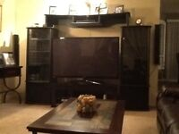 Wall unit for entertainment centre