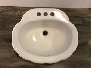 White Porcelain Bathroom Sink