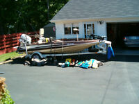 17 Ft Bass Boat/motors/ Trailer/ Cover