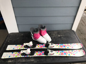 Tecno Pro 110 Girls Skis and size 1 Boots 251 mm