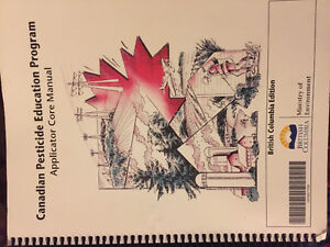Canadian Pesticide  education program course books.