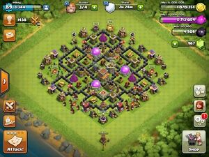 MAX TH8 Clash of Clans (w/ name change)