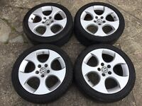 "GENUINE VW 17"" BBS MONZA ALLOYS w/CONTI TYRES - GOLF CADDY TOURAN SEAT SKODA - SLOUGH"
