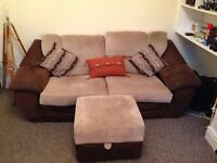 3 and 2 piece sofa settee