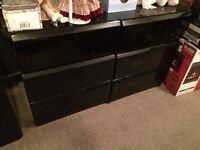 Headboard and two dressers