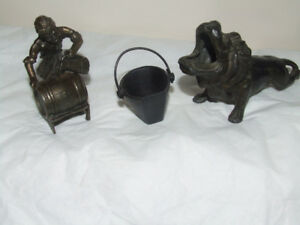 3 metal pieces one KMD Royal Holland Pewter Daalderop Figure Fig