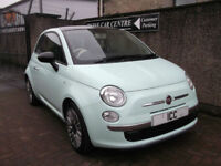14 64 FIAT 500 CULT 1.2 3DR GREEN MASSIVE SPEC PANROOF B/TOOTH MEDIA SCREEN