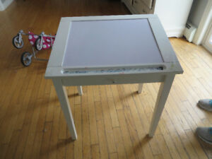Childs arts and Craft Desk-White board on top
