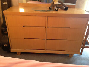 50s Oak Dresser and Double Bed
