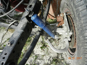 dropped axle with disc brakes