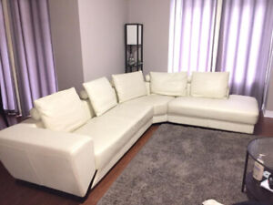 Leather Sectional  - Like New !