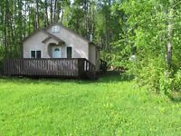 Cabin and two 1/2 acre lots by slave lake