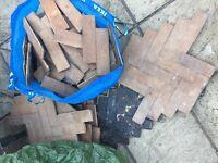 Reclaimed Solid beech or oak flooring 28sq m